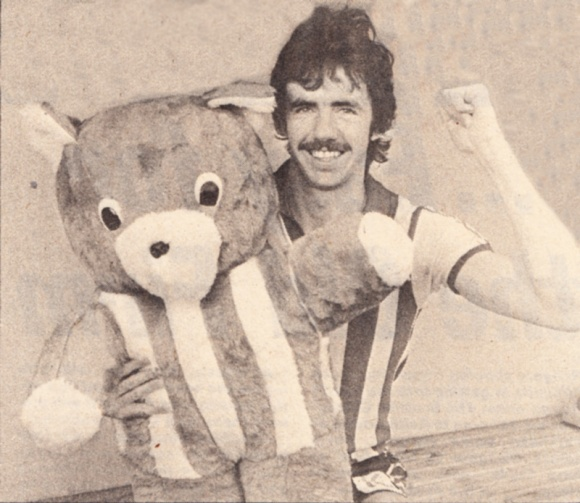 Mark Lawrenson and teddy bear