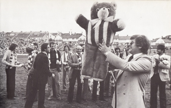 teddy bear with alan mullery