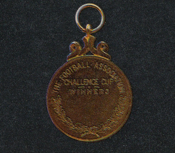 The back of the FA Cup Final winner's medal