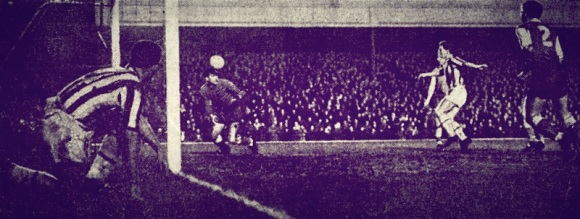 Albion's fourth goal, scored by Adrian Thorne