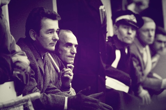 The Clough honeymoon is over as he watches the 4-0 defeat with Glen Wilson.