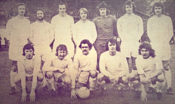 Back row: Colin Woffinden, Dave Sargent, Russell Perkins, Dave Bassett, Gary Bloom, David Donaldson, Chris Lambert. Front row: Billy Edwards, Dave Morris, Bob Wingate, Clive Foskett, Willie Smith.