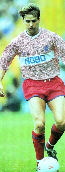 John Byrne in action. Did we really mount a promotion bid wearing this?