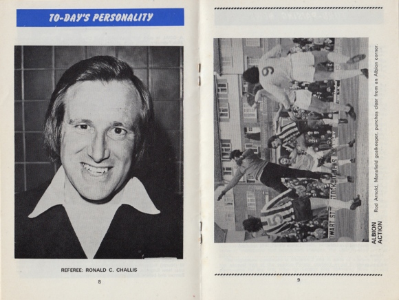 Centre-spread of the Brighton v Palace programme from February 1976.