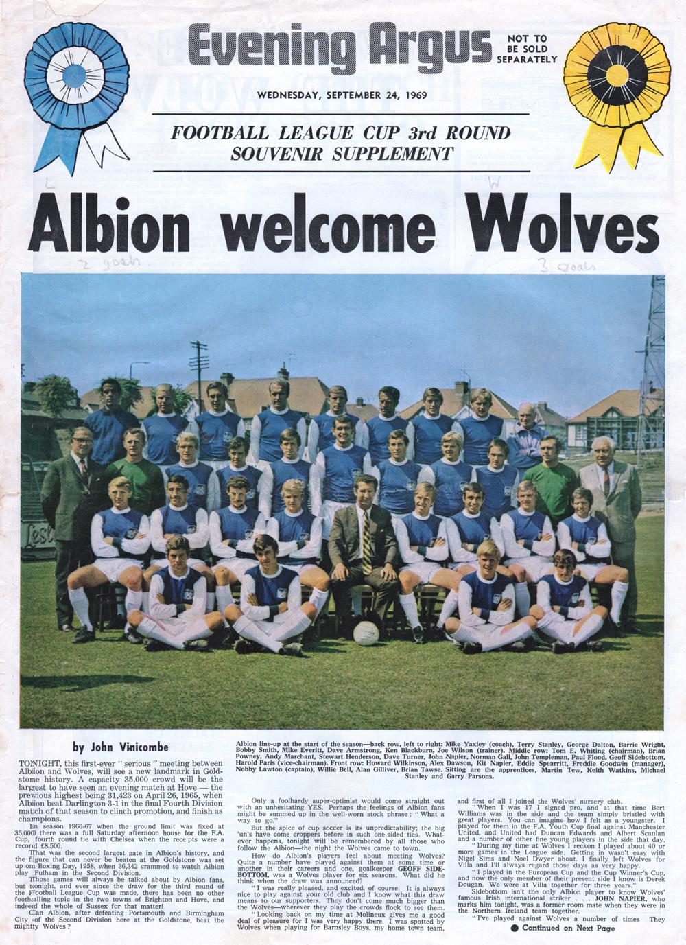 albion brighton v wolves league cup 1969. Black Bedroom Furniture Sets. Home Design Ideas