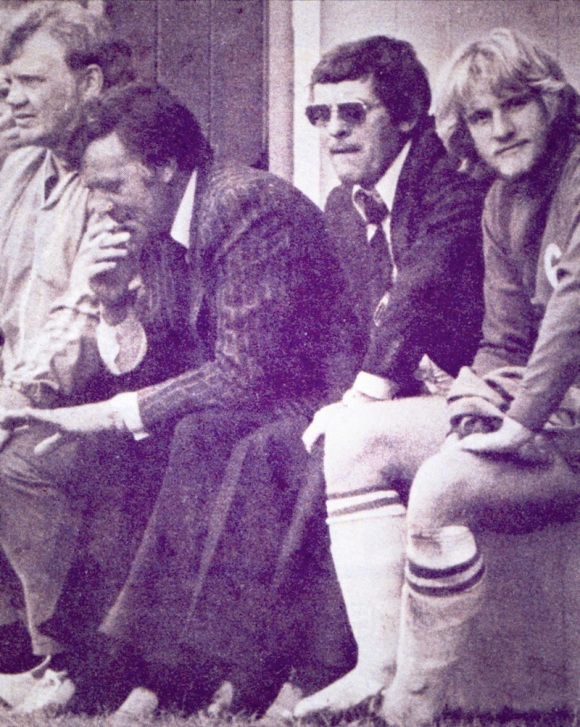Alan Mullery (centre) has led the club through three years of success.