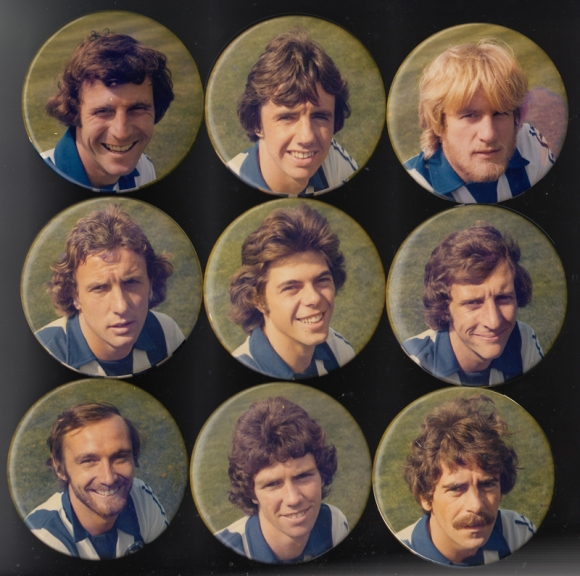 Top row: Gary Winstanley, Mark Lawrenson, Paul Clark Middle row: Andy Rollings, Peter Ward, Chris Cattlin Bottom row: Brian Horton, Gary Williams, Peter O'Sullivan