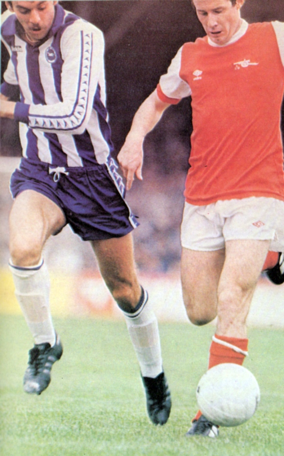 Malcolm Poskett, who came on for the injured Teddy Maybank, finds out what it's like to trail a world-class player - Liam Brady. It's all afar cry from Brighton' s Second and Third Division days...